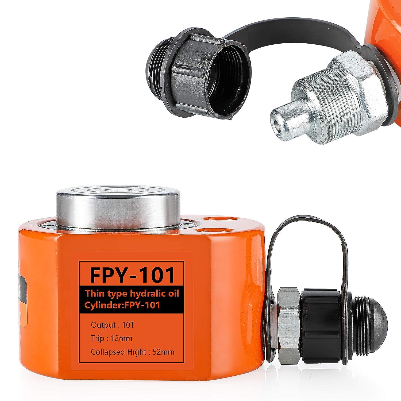 Bonvoisin 10T-100T Hydraulikzylinder Kurzer Hydraulikhubzylinder Split Mini Portable Lifting Industrieheber f/ür den Maschinenbau FPY-5T
