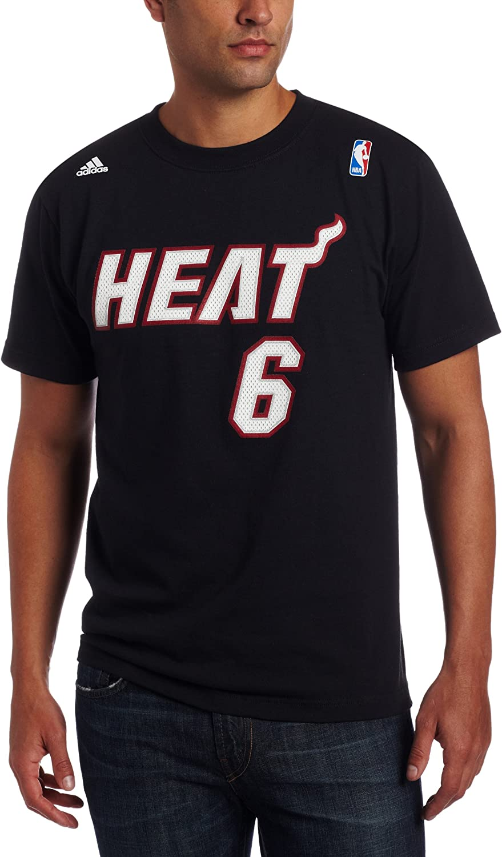 adidas Miami Heat de la NBA Lebron James # 6 Nombre & número Camiseta
