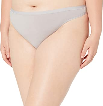 Amazon Essentials Women's Plus-Size 6-Pack Cotton Stretch Thong Panty