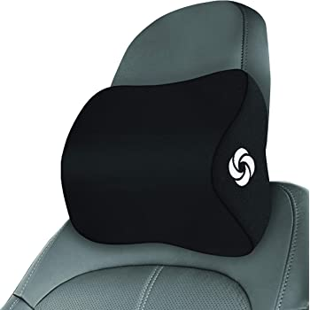 SAMSONITE - Large Car Neck Pillow, Helps Elevate Comfort, 100% Pure Memory Foam, Fits Most Vehicles