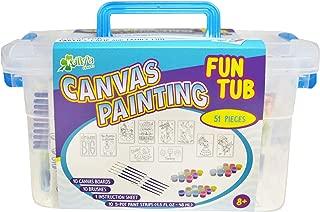 Kelly's Crafts Fun Tub - Canvas Painting Kit - Girl Favorites - Makes 10!