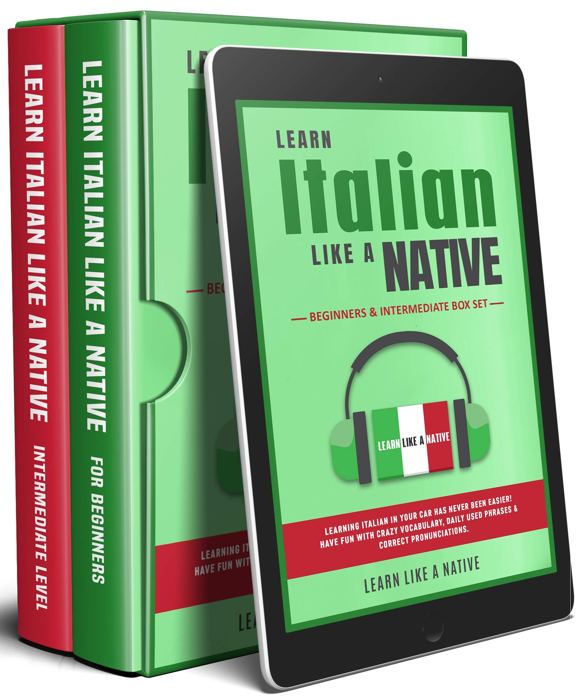 Learn Italian Like A Native Beginners Intermediate Box Set Learning Italian In Your Car Has Never Been Easier Have Buy Online In Colombia At Desertcart