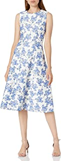 Tommy Hilfiger Women's Scuba Fit and Flare Midi