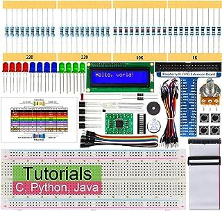 Freenove Raspberry Pi 4 B 3 B+ 用LCD 1602 スターターキット、209ページの詳細なチュートリアル、Python C Java、151項目、28プロジェクト、エレクトロニクスとプログラミングを学ぶ、はんだレスブレッドボード