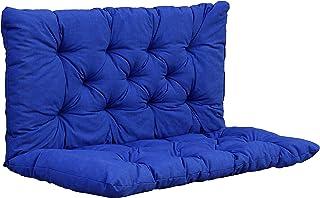 Ambientehome Coussin pour Banc - 100 x 98 x 8 cm - Bleu