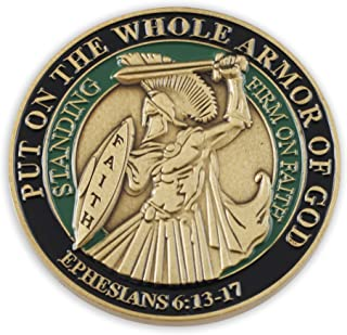 Forge Put On The Whole Armor of God EPH 6:13-17 Enamel 3D Challenge Coins