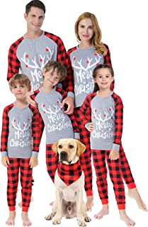 Matching Family Christmas Pajamas Women Men Plaid Deer Sleepwear Boys Girls Elk Clothes Pjs