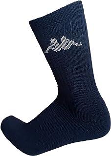 6/12 pares de calcetines, calcetines deportivos de esponja, altura media pantorrilla, calcetines de tenis, calcetines de trekking para hombre y mujer, varios modelos Nero (12 Paia) 45/47