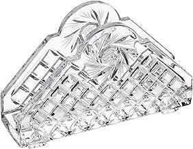 Crystaljulia servethouder, loodkristal, transparant, 11 cm