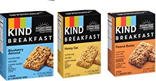 KIND Breakfast Mix, 4 count each (Variety Pack of 3)