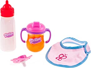 DREAM COLLECTION Doll Feeding Time Set with Pacifier