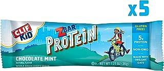 CLIF KID ZBAR - Protein Granola Bars - Chocolate Mint Flavor (1.27 Ounce Gluten Free Bars, Kids Snacks, 5 count)
