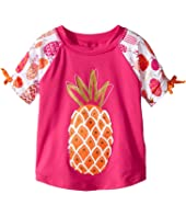 Hatley Kids - Tropical Pineapples Short Sleeve Rashguard (Toddler/Little Kids/Big Kids)