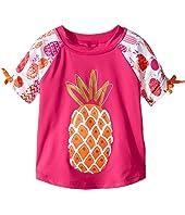 Hatley Kids - Tropical Pineapples Short Sleeve Rashguard (Toddler/Little Kids/Big Kids)