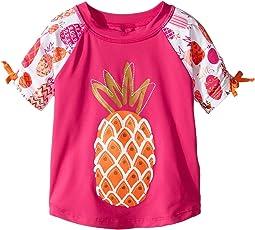 Tropical Pineapples Short Sleeve Rashguard (Toddler/Little Kids/Big Kids)