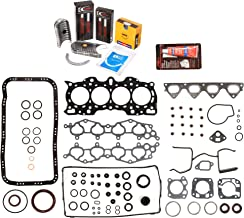 Evergreen Engine Rering Kit FSBRR4011000 Fits 90-01 Acura Integra B18A1 B18B1 Full Gasket Set, Standard Size Main Rod Bearings, Standard Size Piston Rings