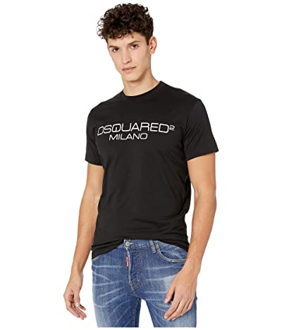DSQUARED2 Milano Jersey T-Shirt (Black) Men