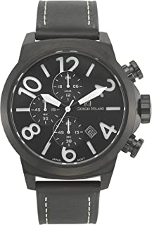 Giorgio Milano 949SBK032Antonio IP Black Chronograph Watch W/Extra Strap