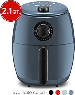 Elite Gourmet EAF-0201BG Personal Compact Space Saving Electric Hot Air Fryer Oil-Less Healthy Cooker, Timer & Temperature...