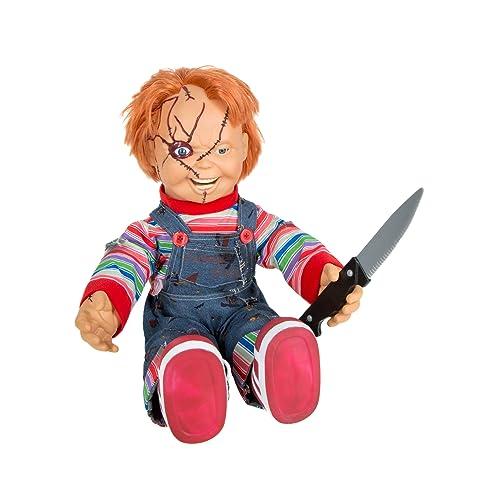 Spirit Halloween 2 Ft Talking Chucky Doll – Decorations