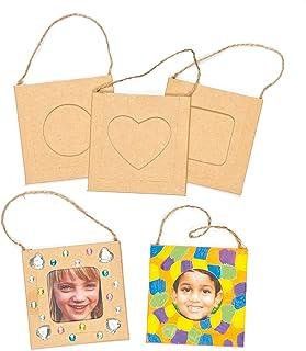Minimarcos de Fotos para Decorar Personalizar y Colgar Manualidades Creativas para Niños (Pack de 12)