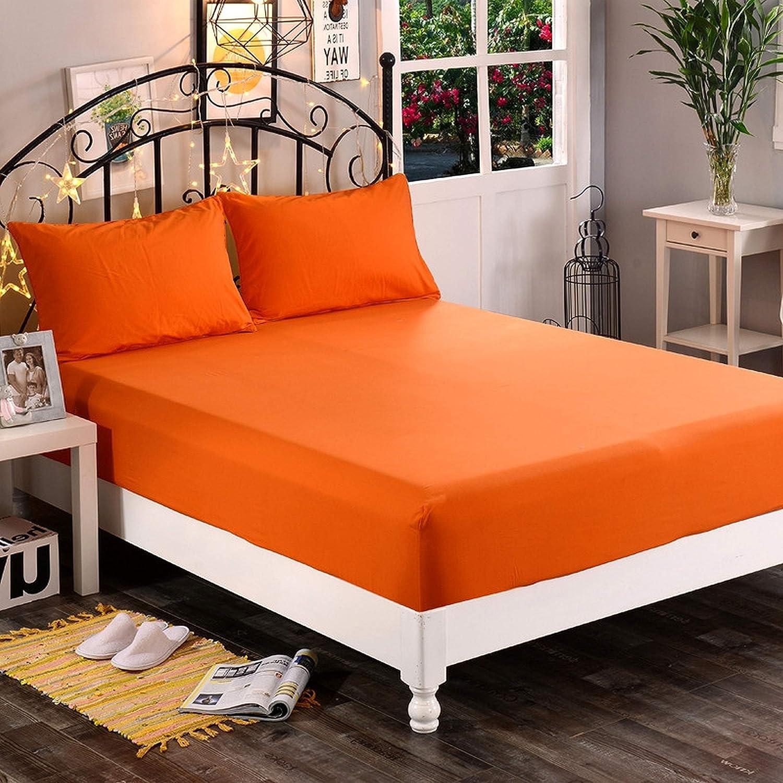 Amrapur Overseas 1800 Series Orange Bed Sheet