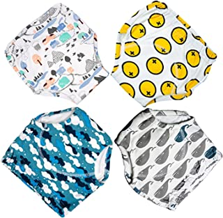 4 Pack Potty Training Pants for Baby and Toddler Boys,Pure Cotton,Adorable and Comfortable