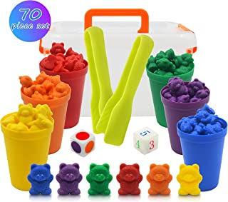 Templeton Educational Counting & Sorting Bears Kit, 70 Piece Super Value Set, Fun Math Manipulative for Home, School, Classroom
