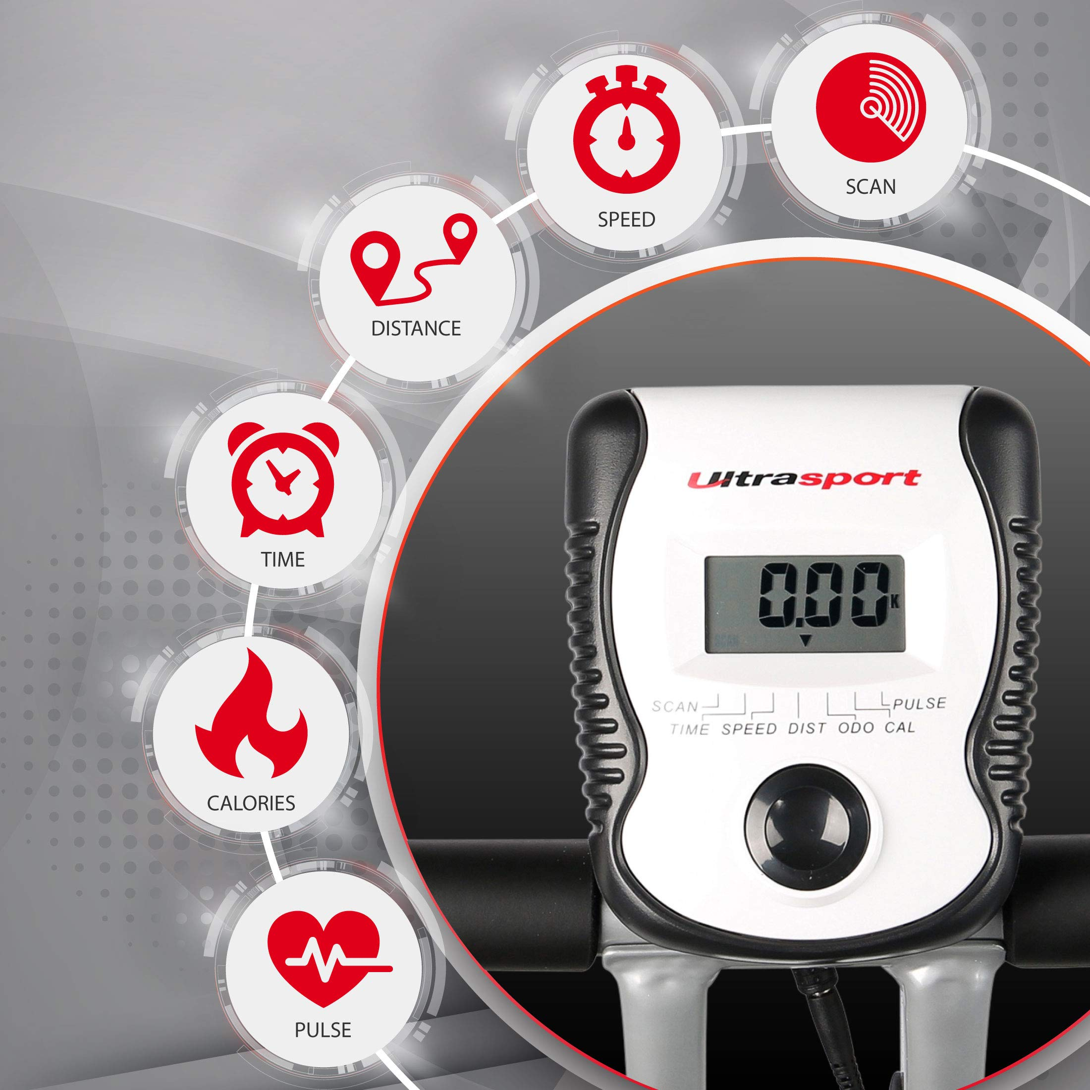 Ultrasport F-Bike 200B Bicicleta estática con sensores de pulso de ...