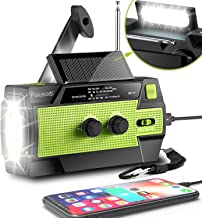 [2021 Newest] Emergency-Hand-Crank-Radio,4000mAh Portable Weather Solar Radios with Motion Sensor Reading Lamp,3 Gear LED ...