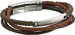 Defender Wide Leather Bracelet