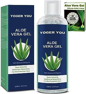 Aloe Vera Puro Gel 100% Organic Crema Aloe Vera 100 Puro Gel de Aloe Vera 100 Natural Pura de Crema Hidratante con Ácido H...