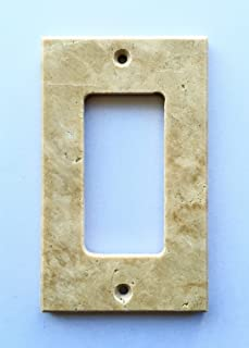 Light Walnut Travertine Switch Plate Cover Rocker - 2.75 X 4.5 IN