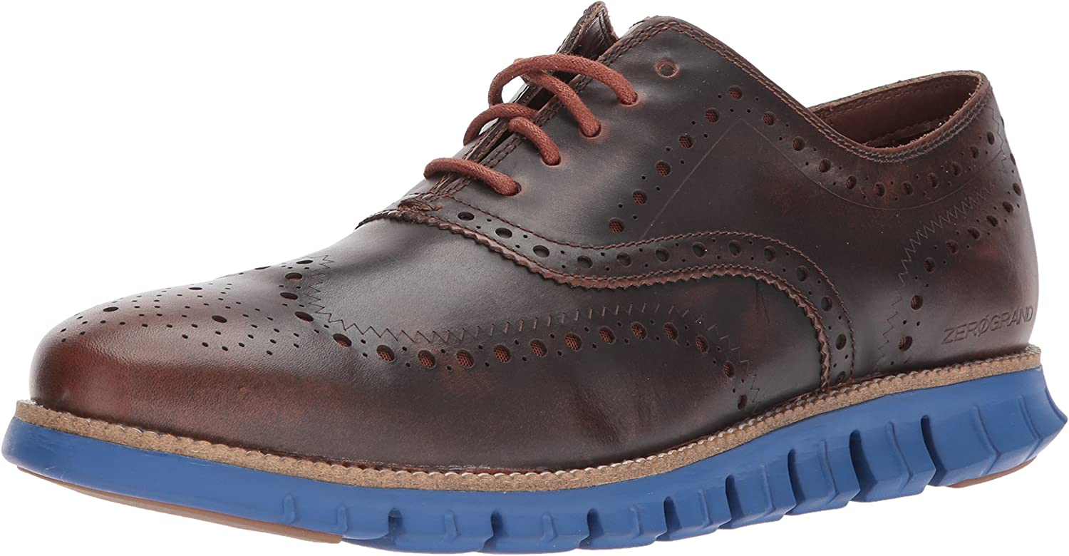 Cole Haan Herren Zerogrand Wing Leather Leder, Woodbury Limoges Blau, 39.5 EU