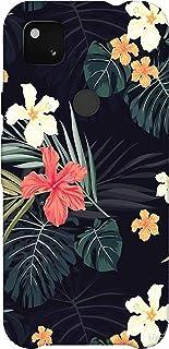SharpEseller Multi Colour Flower Leaf Multi Coloured Silicone Back Cover for Google Pixel 4A