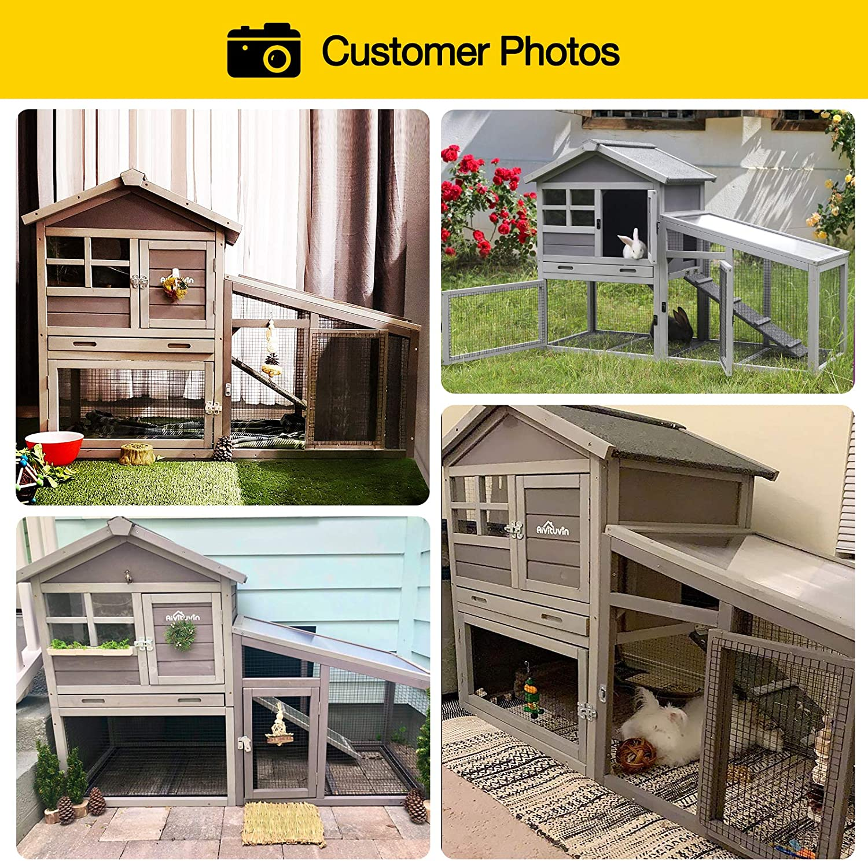 Buy Aivituvin Rabbit Hutch Indoor and Outdoor,Rabbit cage with ...