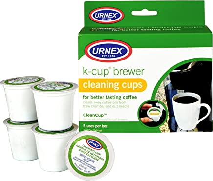 Urnex K-Cup Cleaner - 5 Cleaning Cups - For Keurig Machines Compatible with Keurig