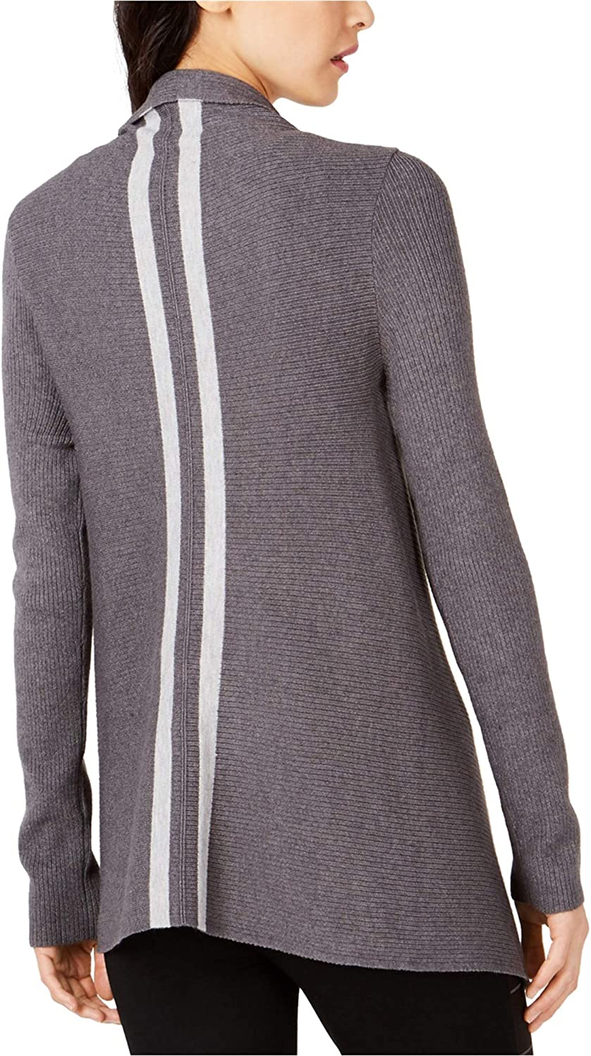 I-N-C Womens Open-Front Cardigan Sweater, Grey, Small