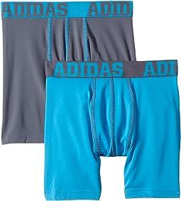 adidas Kids - Sport Performance Climalite 2-Pack Boxer Brief (Big Kids)