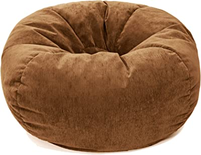 Gold Medal Bean Bags Gold Medal Microsuede Corduroy Bean Bag, Small, Toast
