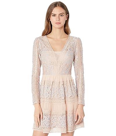 BCBGMAXAZRIA Long Sleeve Lace Cocktail Dress