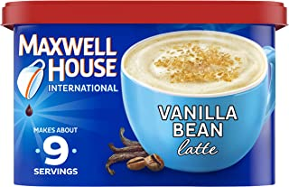 Maxwell House International Vanilla Bean Latte Café-Style Instant Coffee Beverage Mix, 8.5 oz. Canister