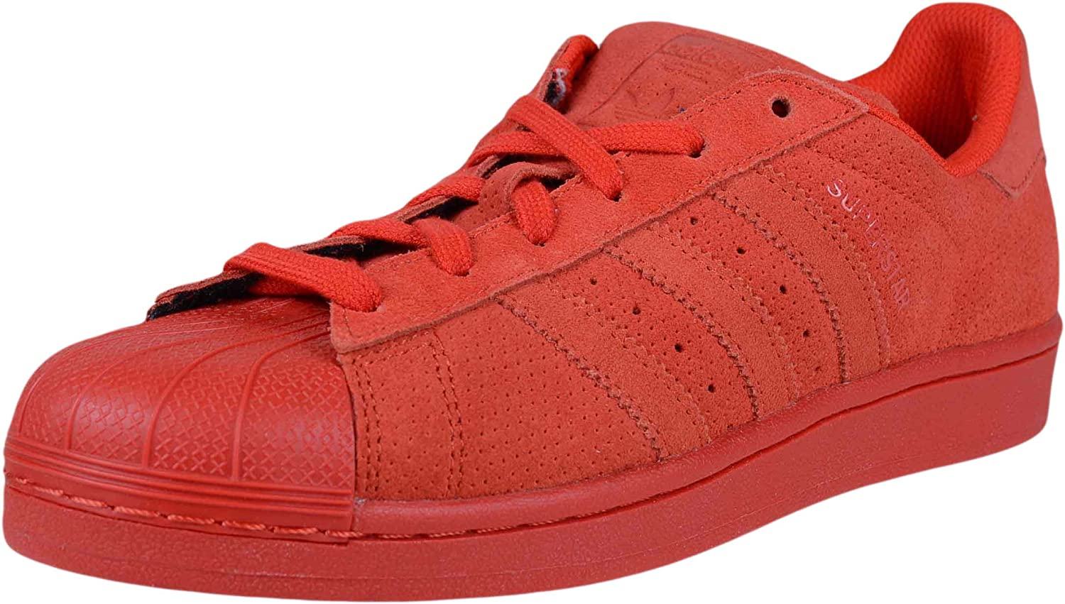 adidas Mens Superstar Rt Lace Up Sneakers Shoes Casual - Red