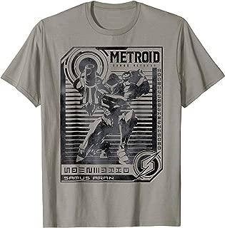Metroid Samus Distressed Poster Graphic T-Shirt