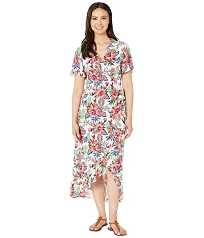La Blanca Botanical Jardin Wrap Asymmetrical Maxi Dress Cover-Up (Multi) Women