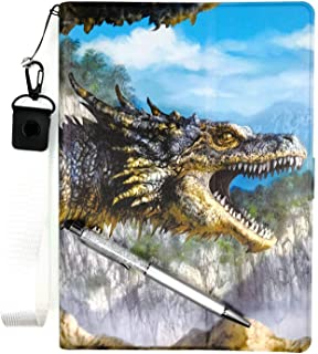 Oujietong ケース タブレット Case For Dragon Touch Notepad 102 10-イン ケース PU 超薄型 最軽量 三つ折 保護 L