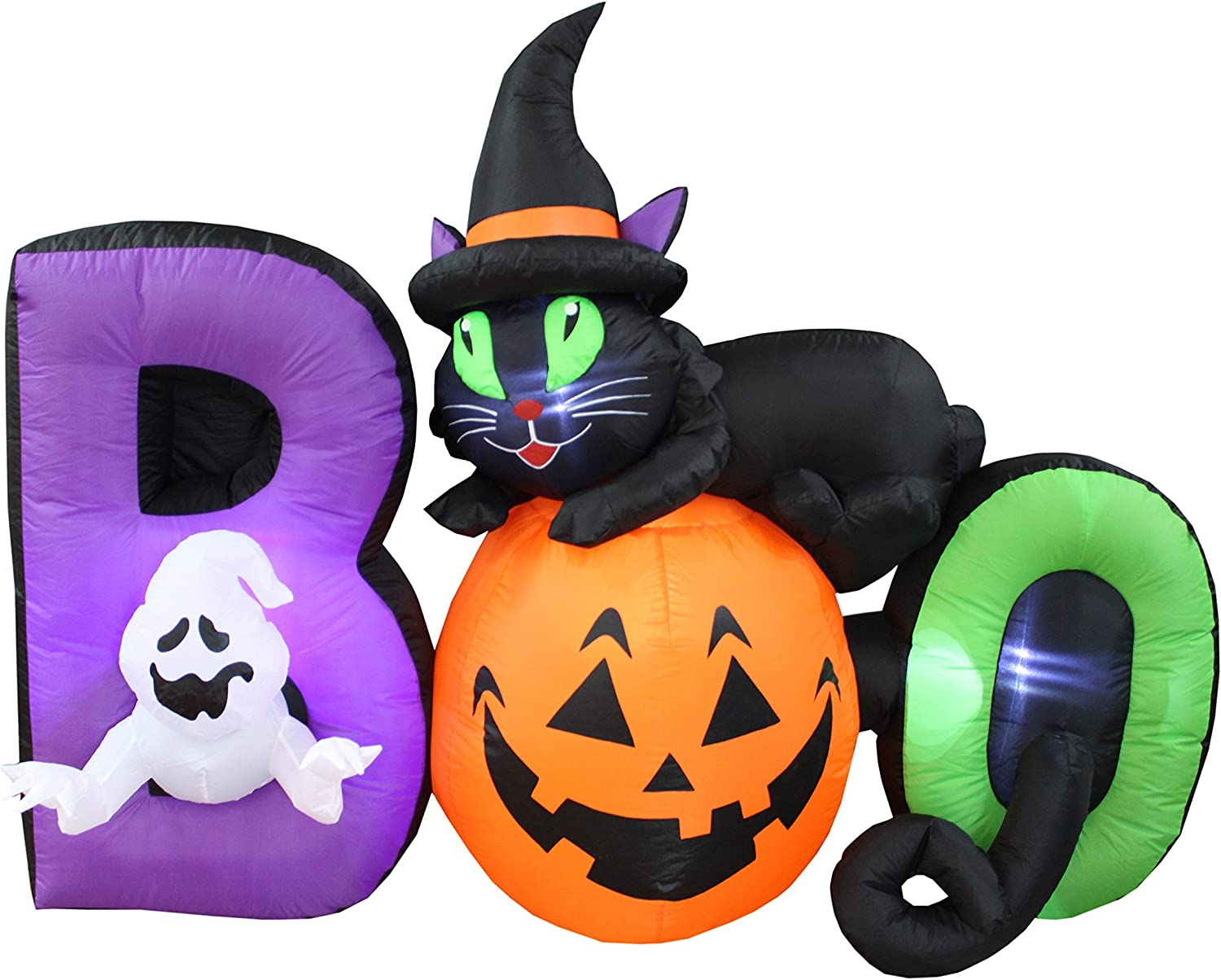 BZB Max outlet 57% OFF Goods 6 Foot Long Lighted Gho Black Inflatable Halloween Cat
