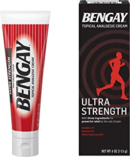Ultra Strength Bengay Topical Pain Relief Cream, Non-Greasy Topical Analgesic for Minor Arthritis, Muscle, Joint, and Back...
