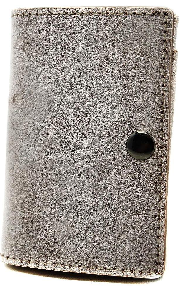 苦行枠ステレオタイプ極上イタリア製ブライドルレザー 薄型 三つ折り財布 コンパクト本革 ダークブラウン ME0278_c5
