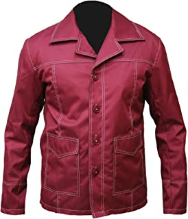 Marche Fight Club Brad Pitt Jacket Tyler Durden Classic Red Blazer Leather Jacket
